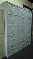 5 drawer, legal size, metal filing cabinet