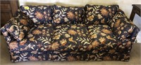 Floral upholstered sofa