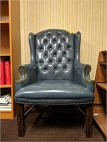 Tufted high back leather office chair