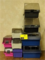 Office media storage boxes