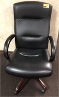 Leather, rolling office chair