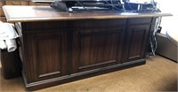 Matching Office desk, credenza, 2 drawer wood