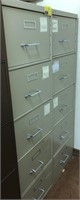 Legal size, 5 drawer, Metal filing cabinet