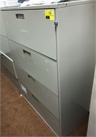 Horizontal, Metal filing cabinet
