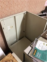 Metal office desk, contents not included