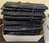 Large lot of Dell keyboard's