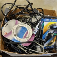 Large lot of computer wiring and more