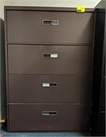 Four drawer horizontal filing cabinet