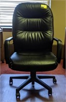 Leather office chair and mat
