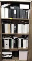 Contents of cabinet, binders