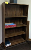 Wooden Bookshelf contents not included