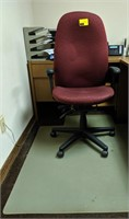 Office chair and mat