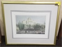 Framed print measures approximately 34 and 1/4