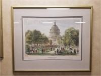 """Framed print measures approximately 34""""x28"""""""