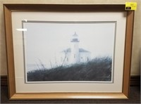 Framed print measures approximately 35 by 27 in