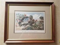 Framed print measuring approximately 22 and 1/2