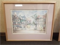 Framed print measures approximately 32x26