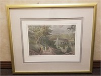 Framed print measures approximately 34x28