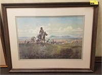 Framed print measures approximately 39x30