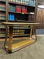 Wood and glass sofa table