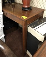 Side table, contents not included