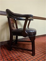 Conference room table with three matching chairs