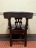 Conference table with 10 matching chairs. Table