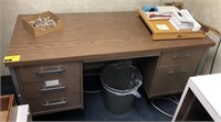 Office desk, contents not included