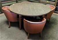 Wood round table with 4 matching chairs
