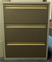 Four drawer metal horizontal filing cabinet