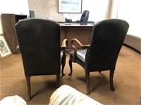 Leather upholstered office chair