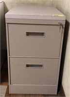 2 drawer, Metal filing cabinet with topper