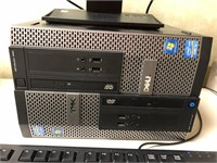 Acre monitor, with Dell towers, and Dell keyboard
