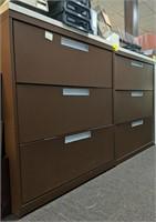 Three drawer metal horizontal filing cabinet