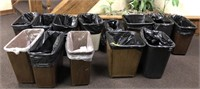 Lot of office trash cans