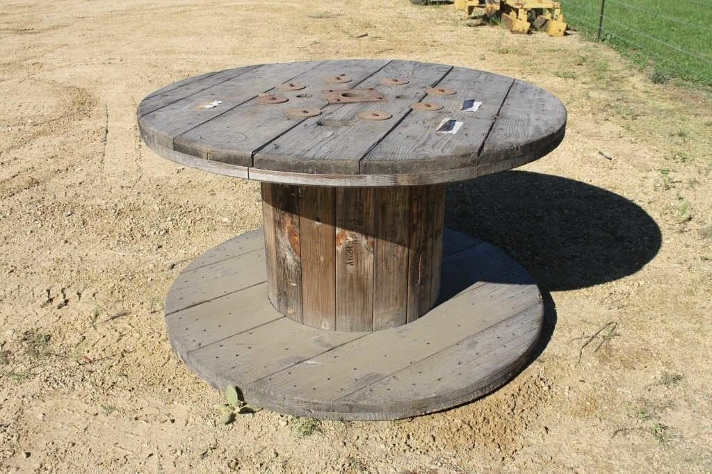 Large 5ft Diameter Wooden Cable Spool Spencer Sales