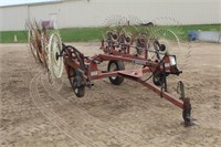 "H & S 8-Wheeled Bi-Fold Hay Rake, 15"" Tires"