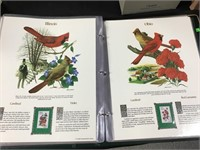 State birds and flowers stamp panels