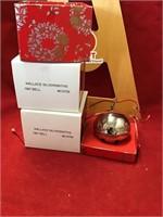 three Wallace silversmith Christmas bells