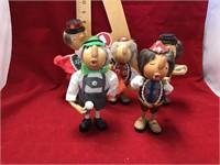Five Casey boy figurines