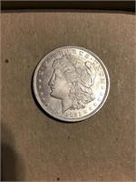 1921 Philadelphia Morgan silver dollar