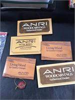 Anri wood signs
