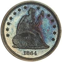 25C 1864 PCGS PR67