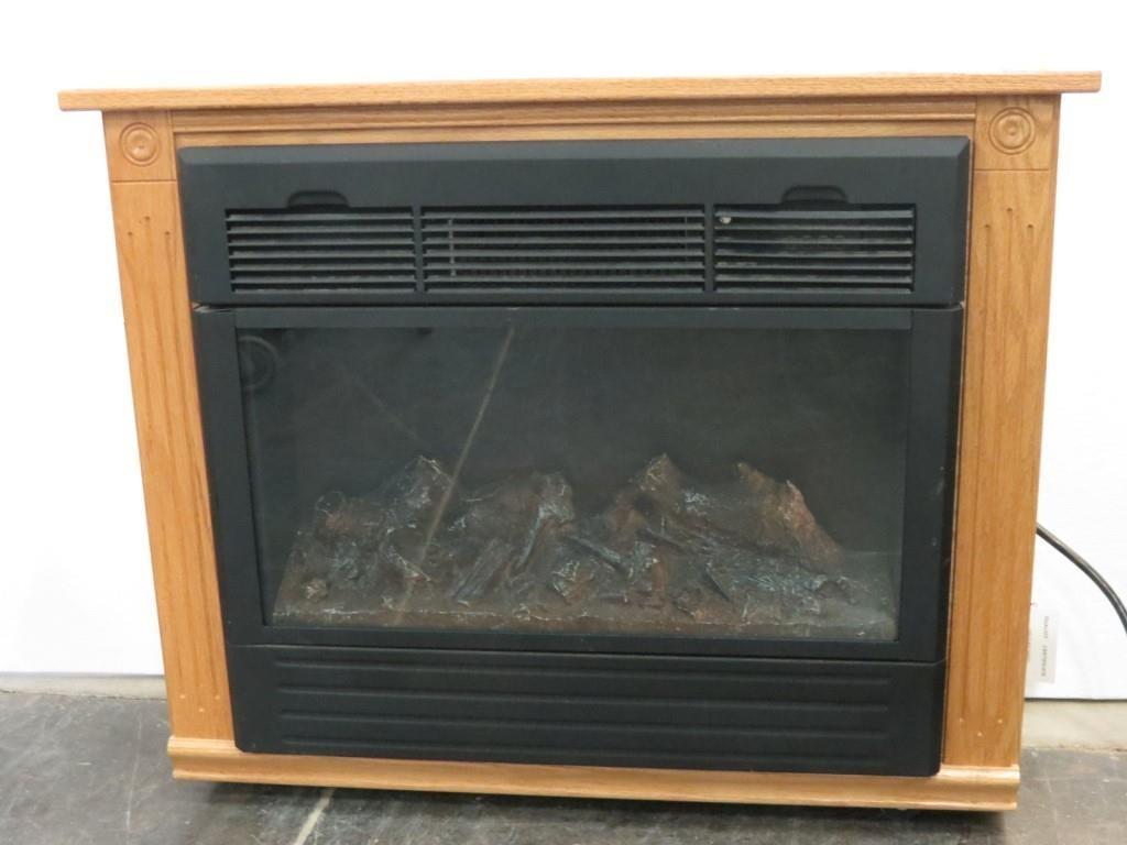 Amish Portable Electric Fireplace Heater Idaho Auction Barn