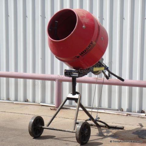 Husky 110lb Electric Cement Mixer