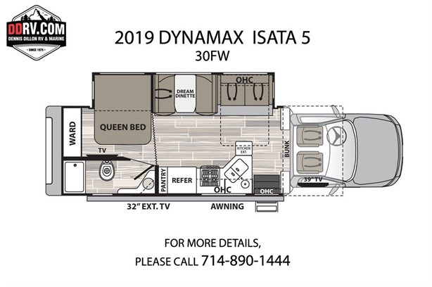 DYNAMAX ISATA 5 30FW Class C Motorhomes For Sale - 6 Listings