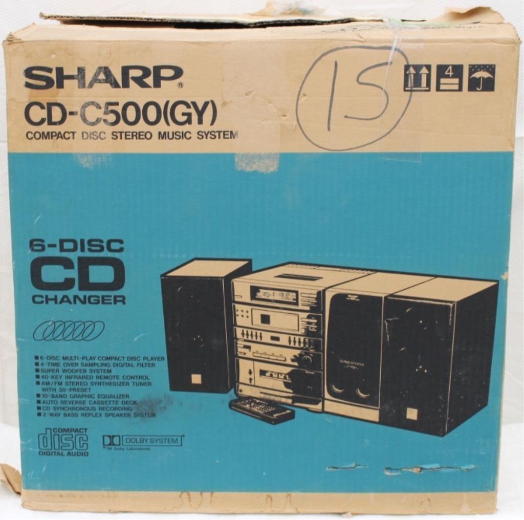 Sharp 6 Disc Home Stereo CD-C500(Gy) | HiBid Auctions
