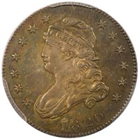 25C 1820 SMALL 0 PCGS MS62 CAC