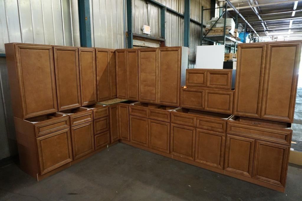 Savannah Honey Kitchen Cabinet Set 42\