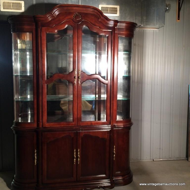 Wondrous Deilcraft Fine Furniture Luminated China Cabinet Vintage Download Free Architecture Designs Rallybritishbridgeorg
